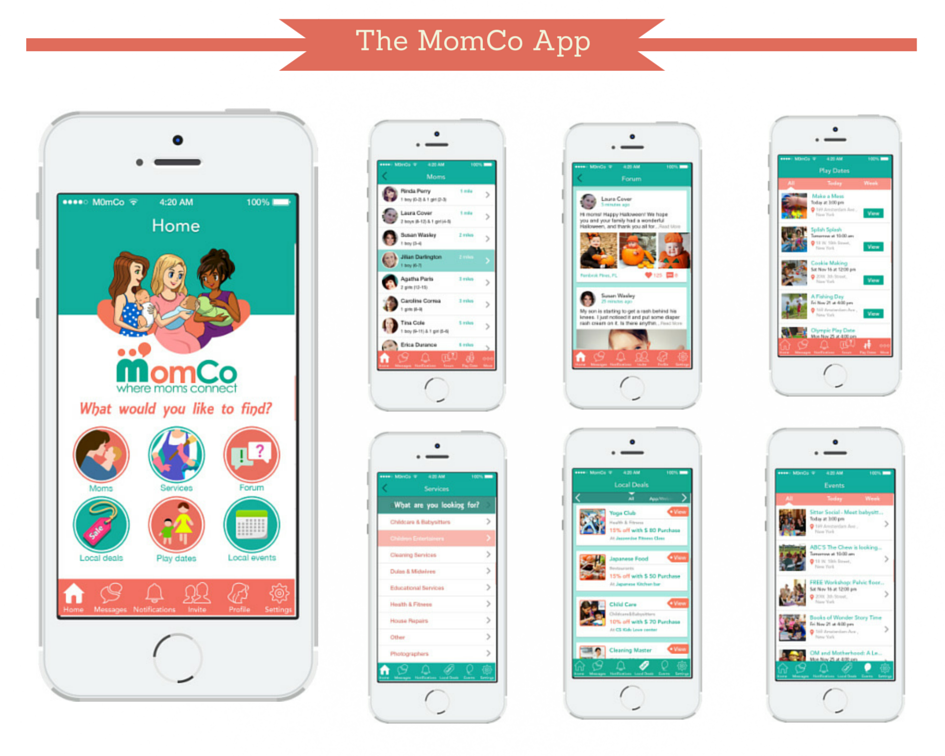 MomCo App - Must-have app for moms