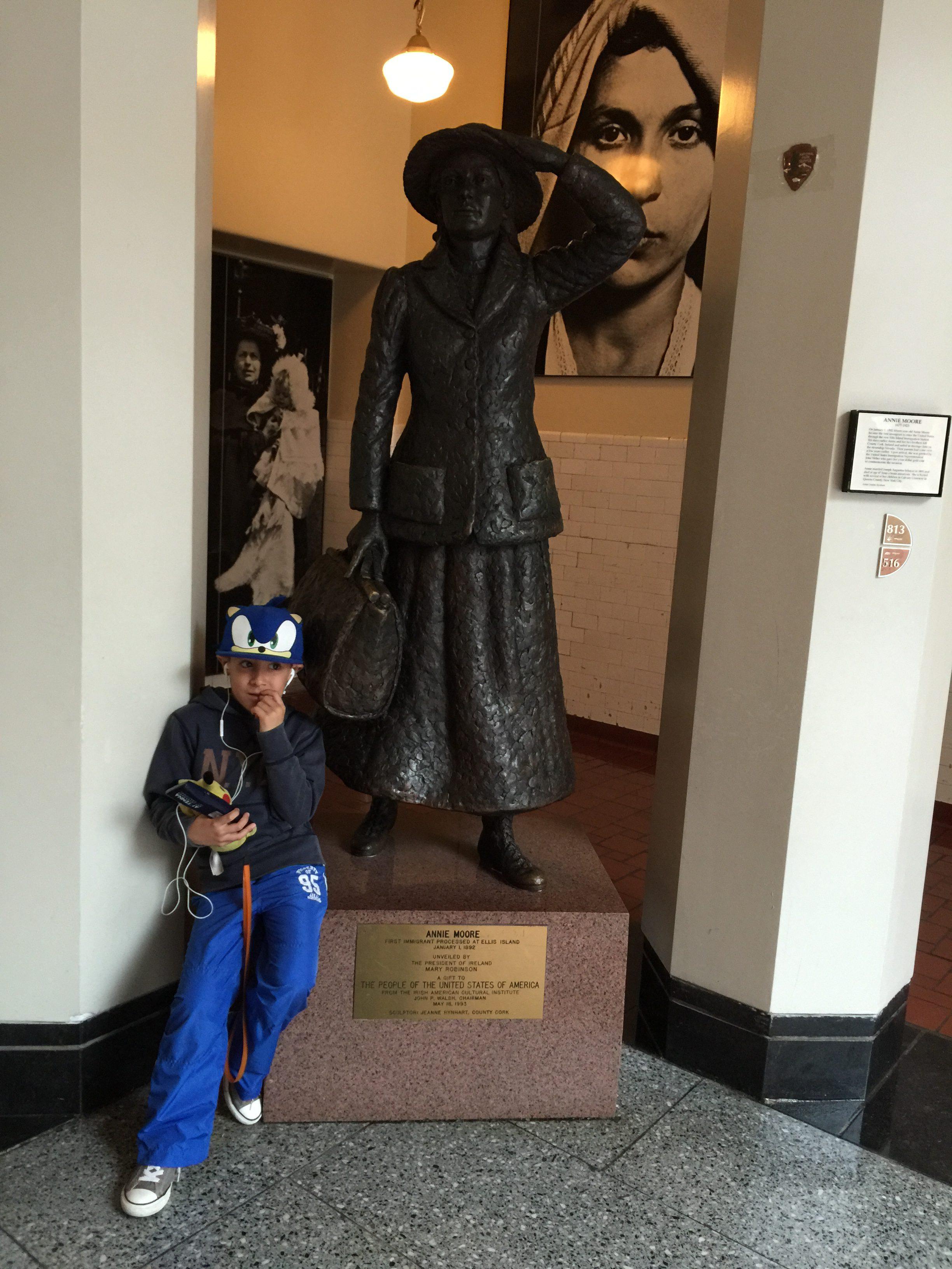 First Immigrant at Ellis Island