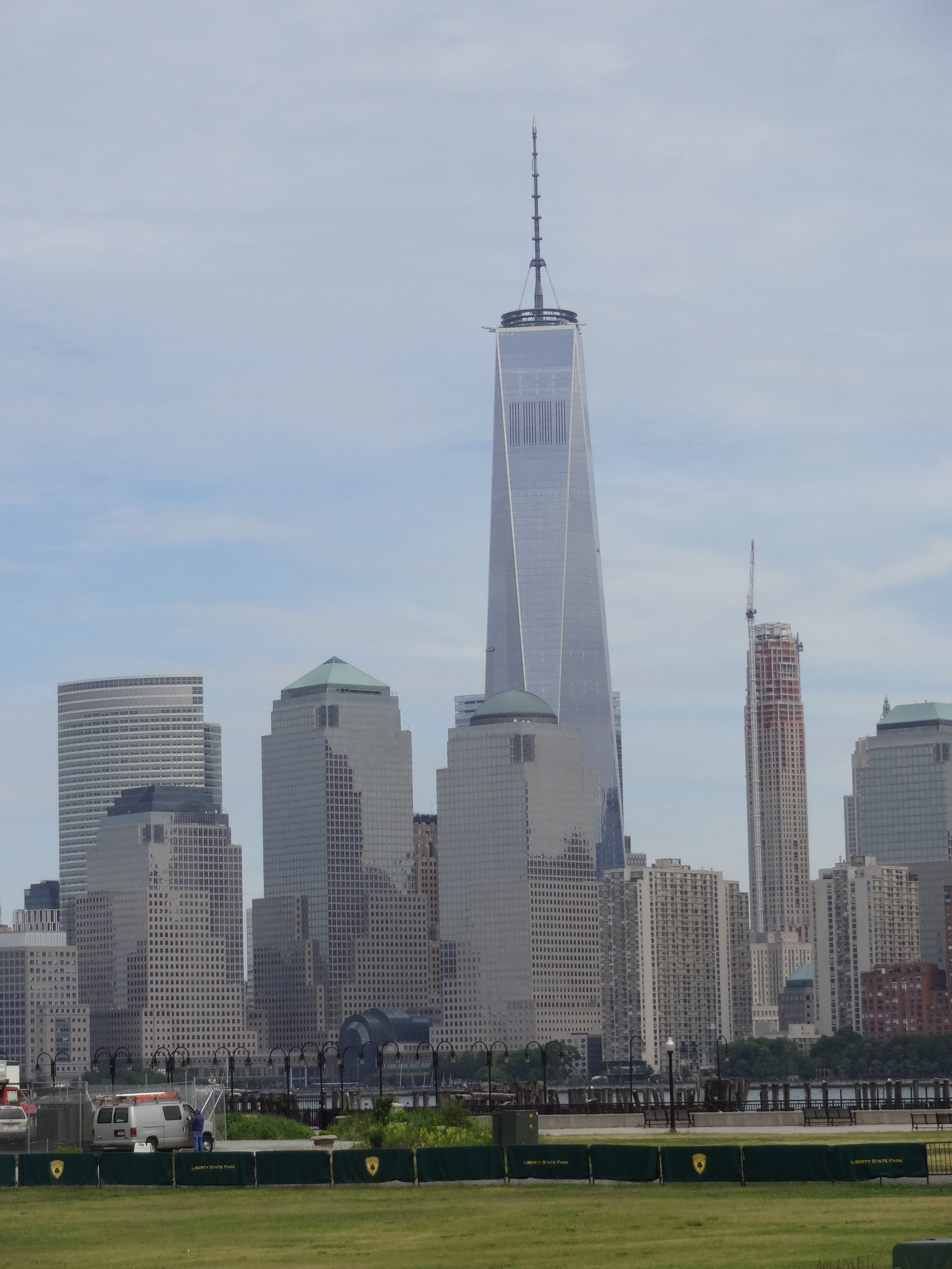 Downtown NYC views from Liberty State Park in NJ
