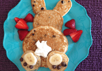 Have you tried serving up Bunny Pancakes for Easter? Your kids will love these!