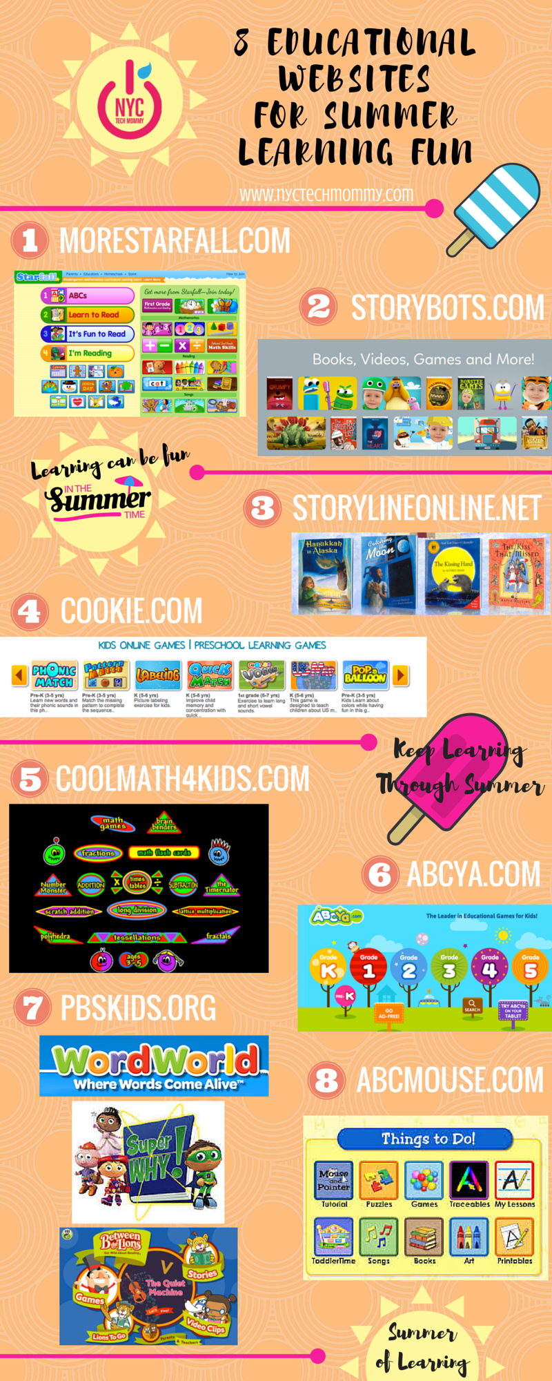 8 Educational Websites for Summer Learning FUN - NYC Tech Mommy