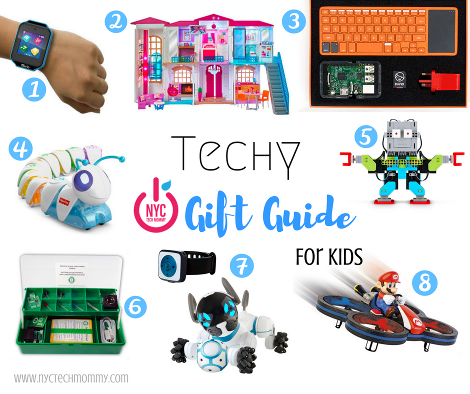 The new tech products I'm most excited to buy & gift this holiday season are those for my kids. Here's my Techy Gift Guide that includes 8 of the coolest tech toys this holiday season!