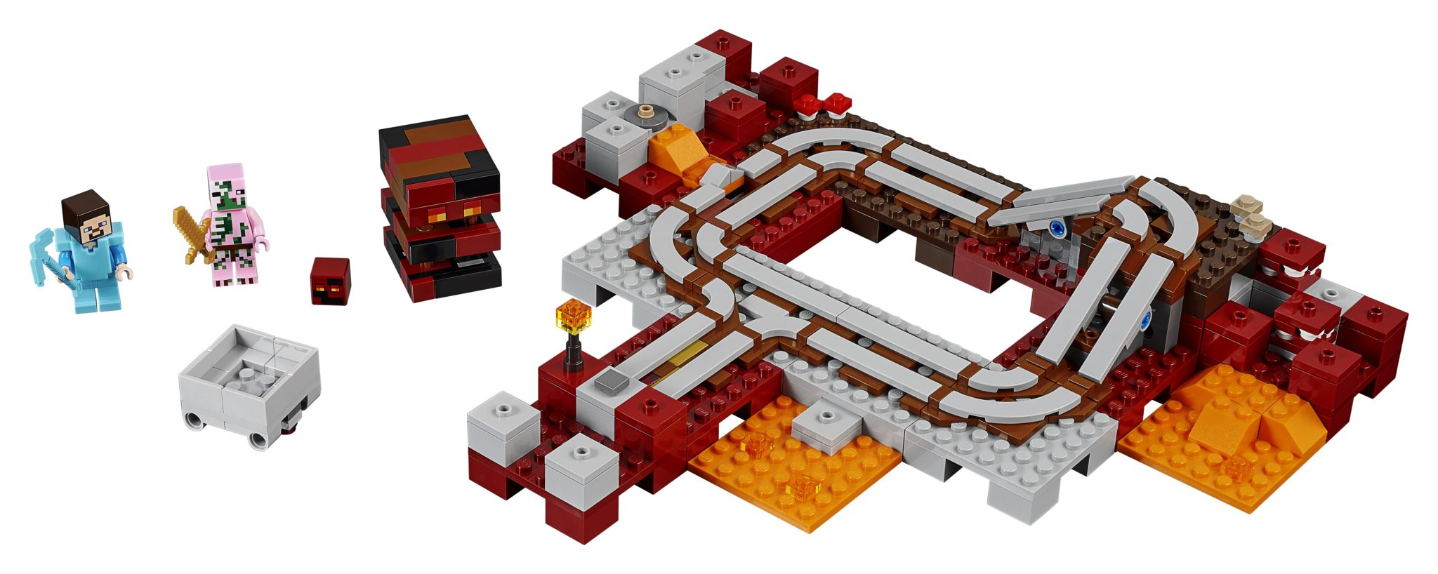 New Cool Toys Unveiled at Toy Fair 2017 - Minecraft LEGO The Nether Railway