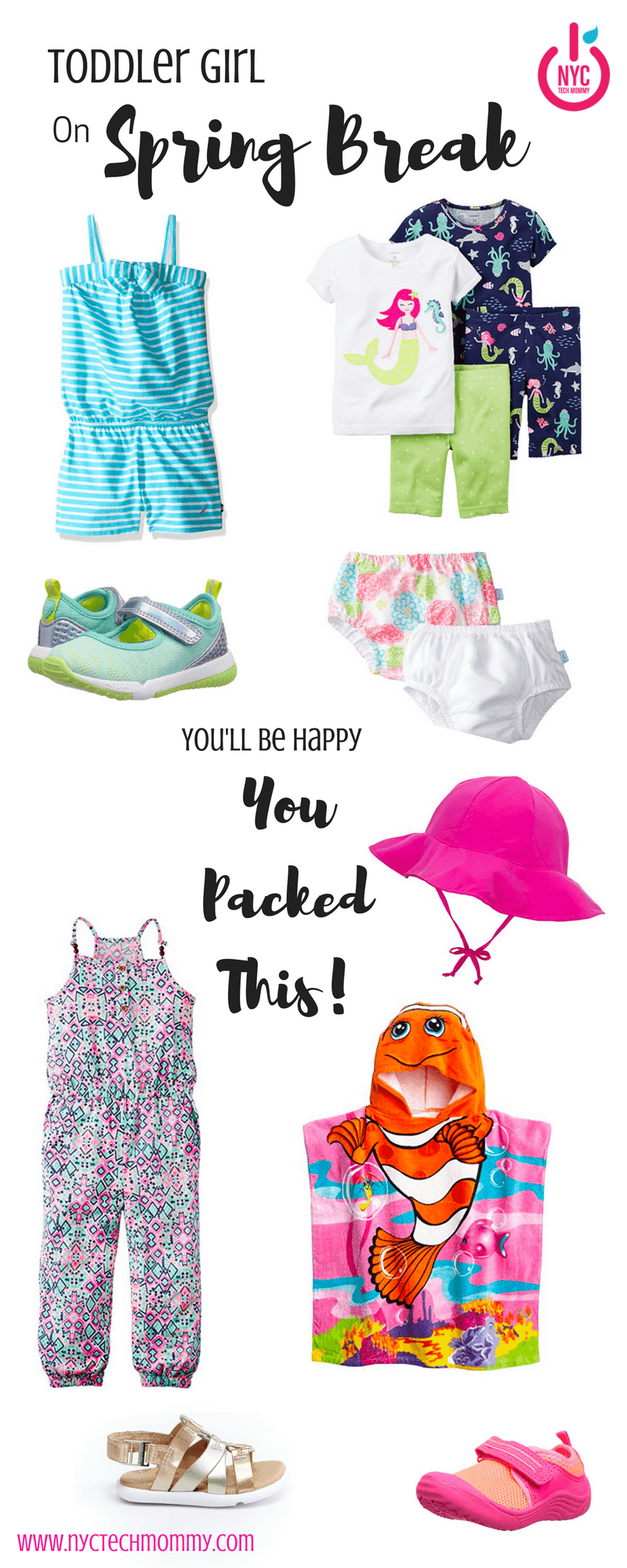Are you taking baby girl on Spring Break? Here are all the essentials you'll be happy you packed for toddler girl + where to find everything you need!