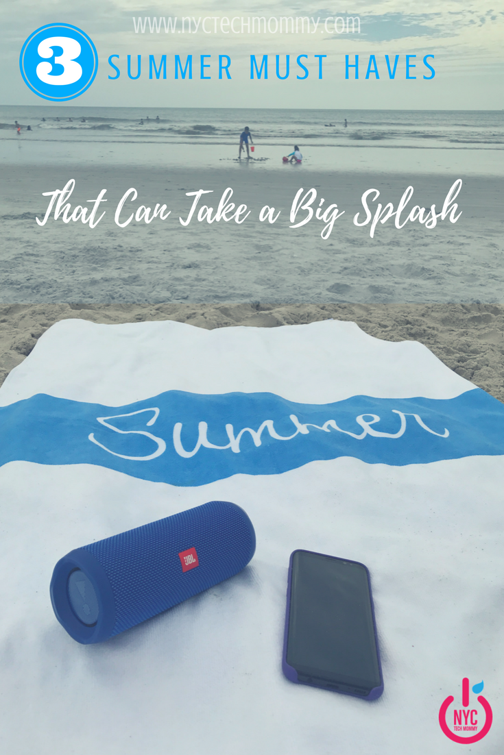 Kids are always ready for a big splash! This summer I was ready to splash right along with them thanks to 3 summer must haves that can take a big splash. Check out my favorite summer gadgets and the smarter towel for summer