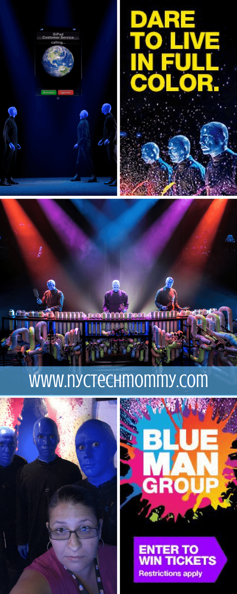 Blue Man Group Ticket Giveaway - Family Four (4) Pack of tickets -- This wildly popular show delivers a joyful, multi-sensory experience that the entire family will enjoy!
