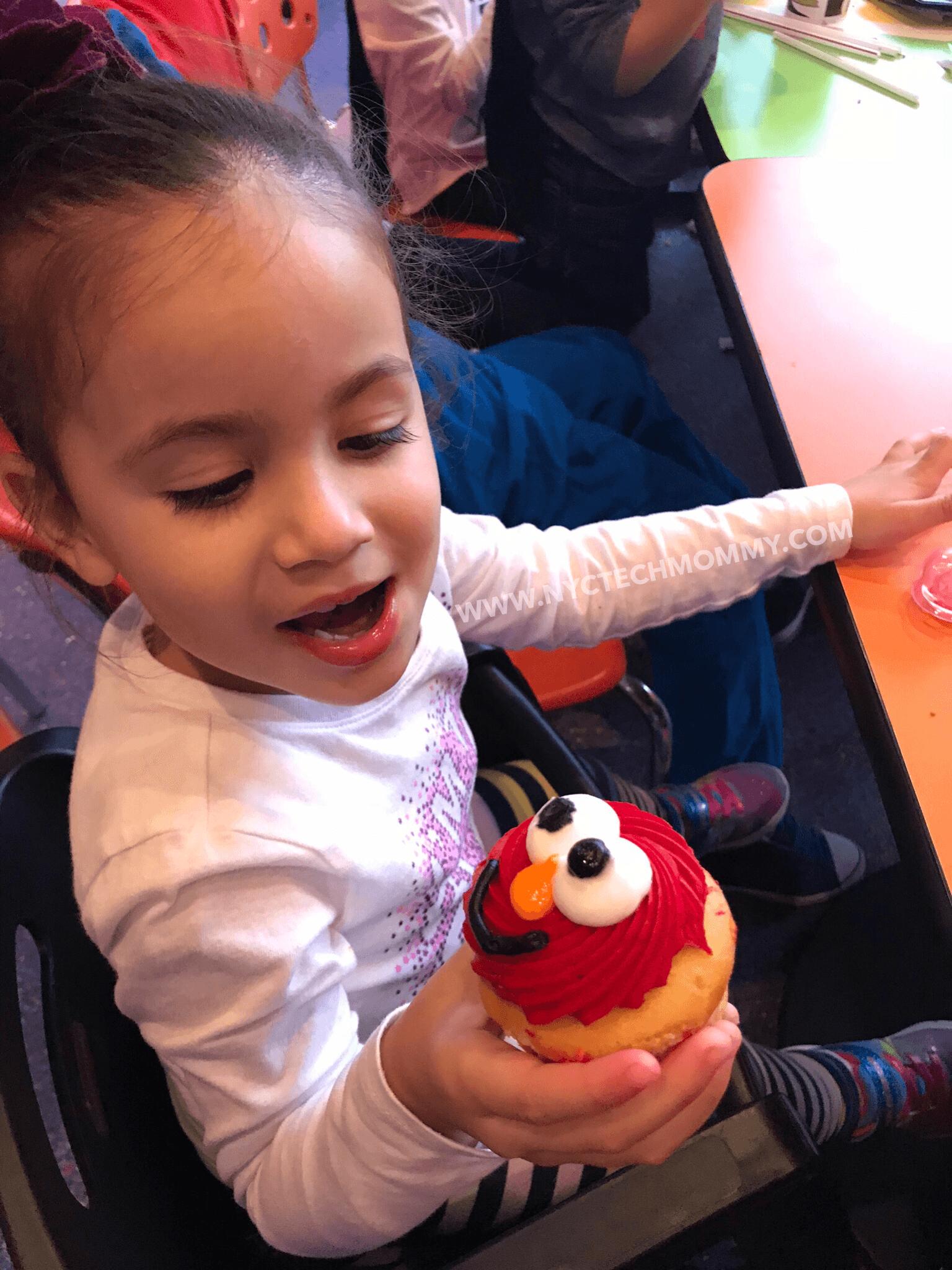 Elmo Cupcake at Sesame Place