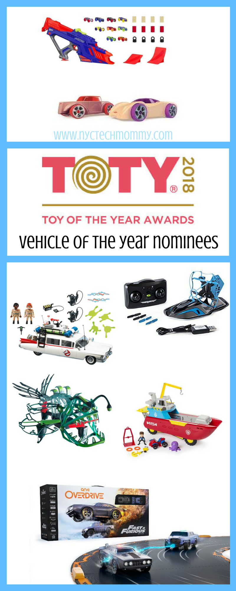 Learn about the 2018 Vehicle Toy of the Year Award Nominees and cast a vote for your favorite at towards.org #TOTY2018