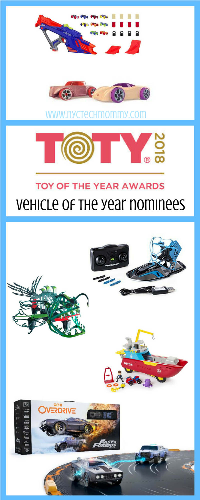 Learn about the 2018 Vehicle Toy of the Year Nominees and cast a vote for your favorite at towards.org #TOTY2018