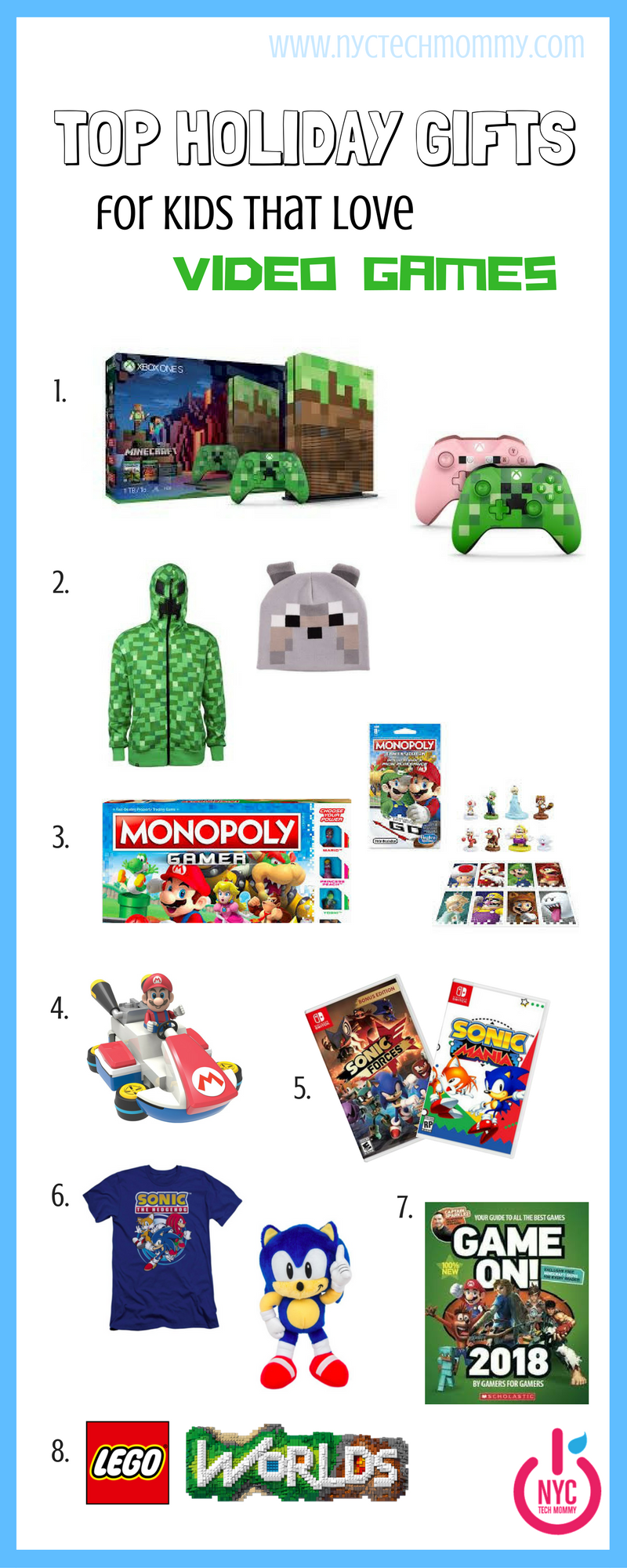 Here's our curated list of top holiday gifts for kids that love video games. Your little gamer will love each and every one of these video game related presents!