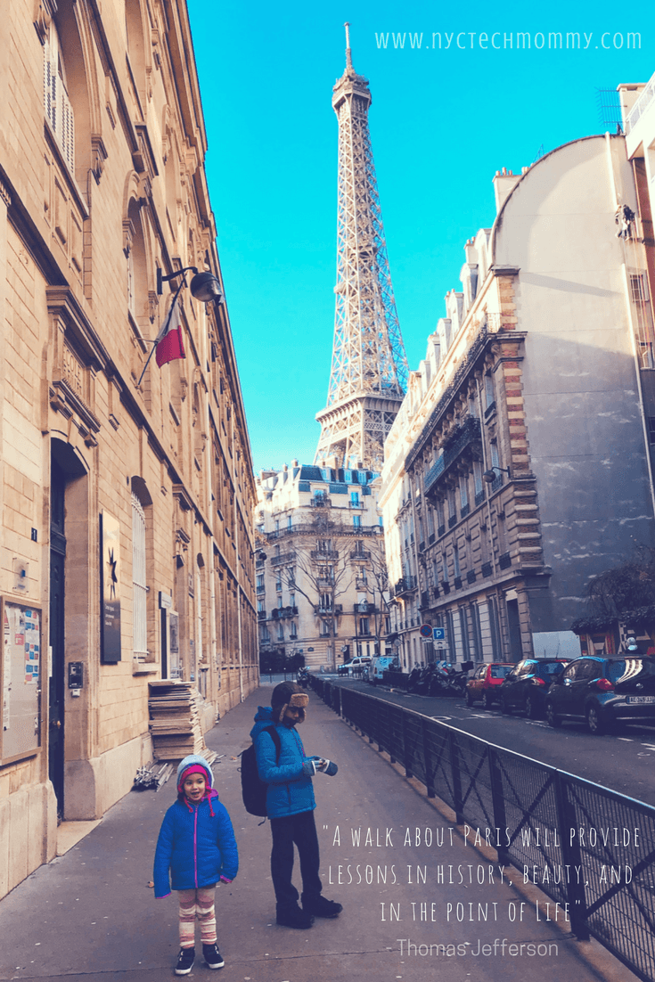 Here's one of our favorite Paris quotes, along with all the tips you need to know before you visit Paris with kids. #Paris #FamilyTravel